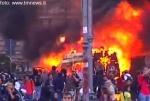 manifestazione,roma,indignati,guerriglia